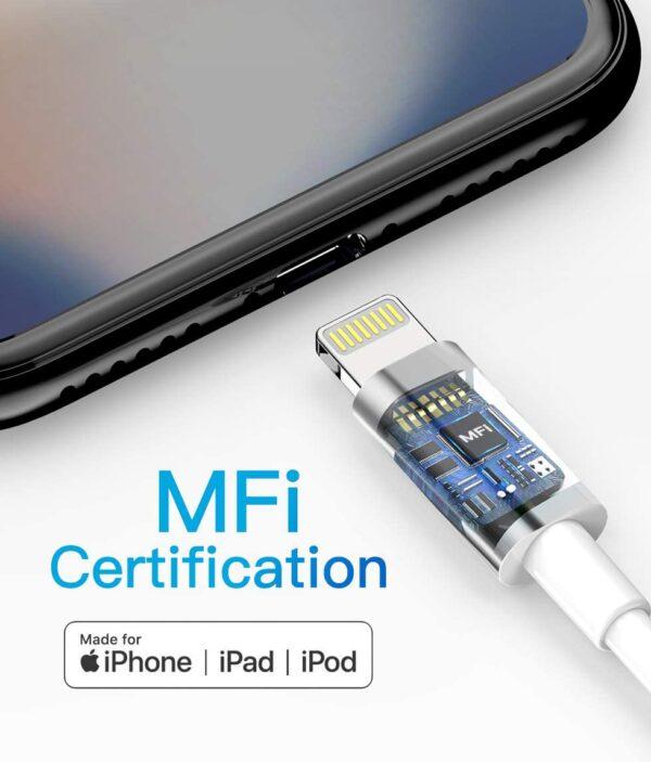 Lot de 3 Câble pour iPhone Quntis certification