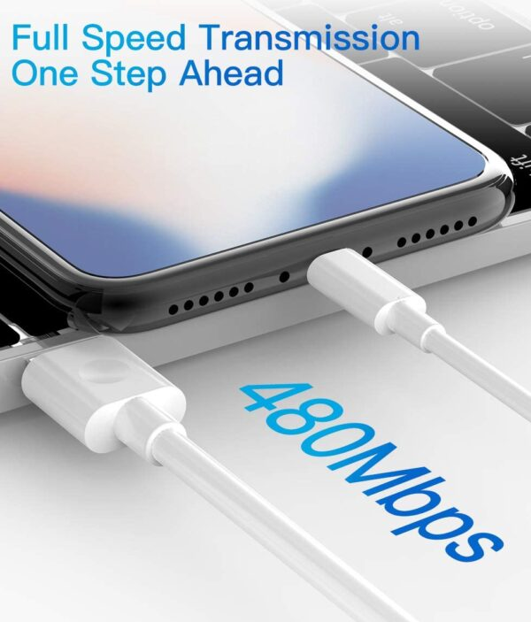 Lot de 3 Câble pour iPhone Quntis rapide