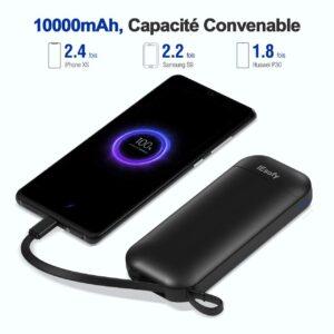 batterie externe 10000mAh IEsafy capacité