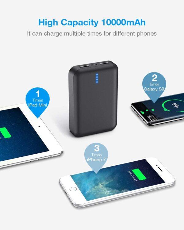 batterie externe 10000mAh Luvfun capacité