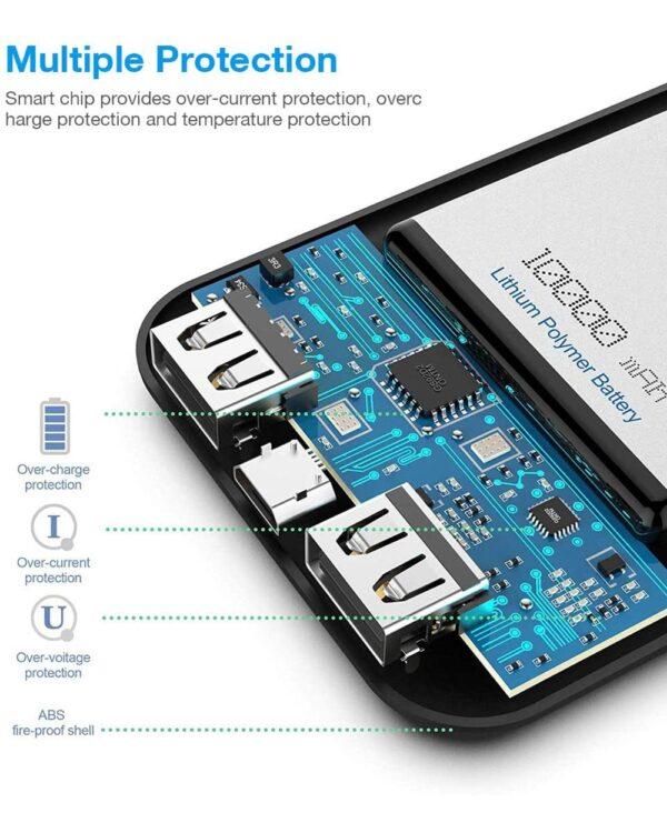 batterie externe 10000mAh Luvfun système protection