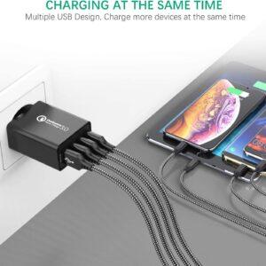 chargeur rapide 3.0 4 ports USB IWAIVON 4 simultanément
