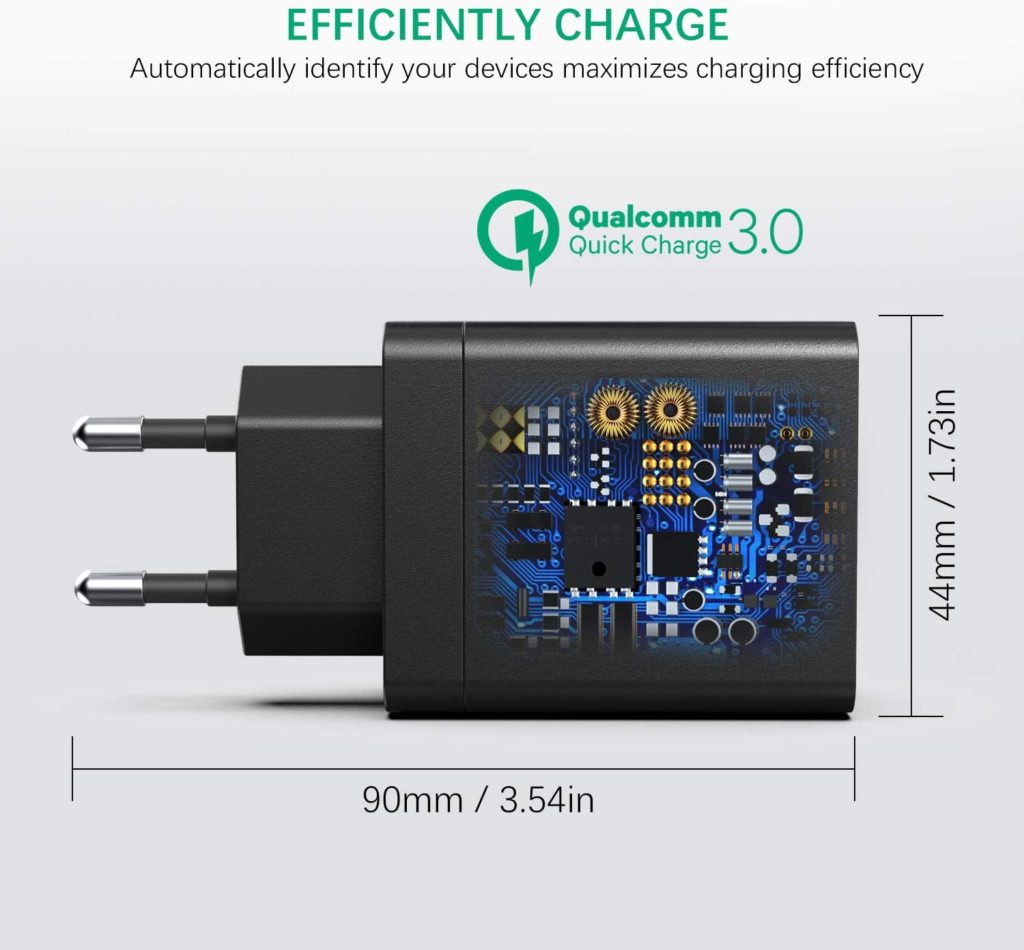 chargeur rapide 3.0 4 ports USB IWAIVON technologie