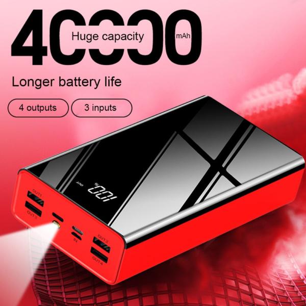 Batterie externe 40000mAh X lampe de poche