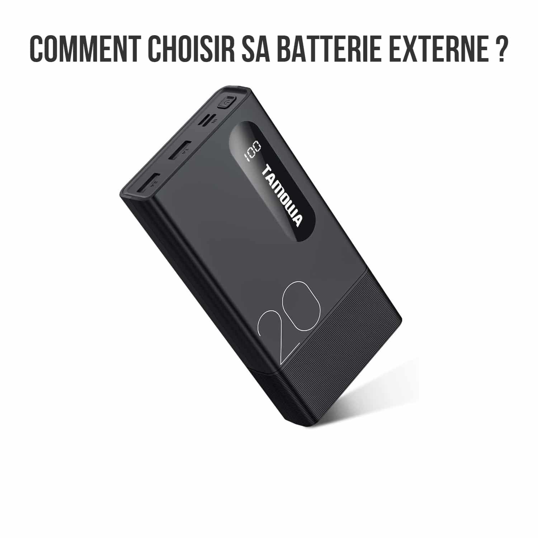 Bannière comment choisir une batterie externe