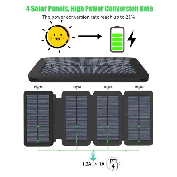 Batterie Externe Solaire 25000mAh XDragon charge rapide
