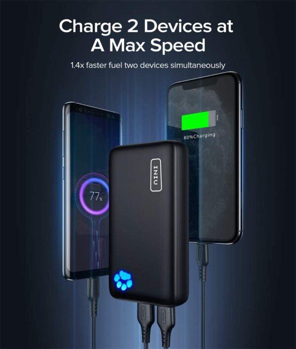 Batterie externe 20000mAh Power Bank 2 appareils