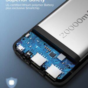 Batterie externe 20000mAh Power Bank sécurité