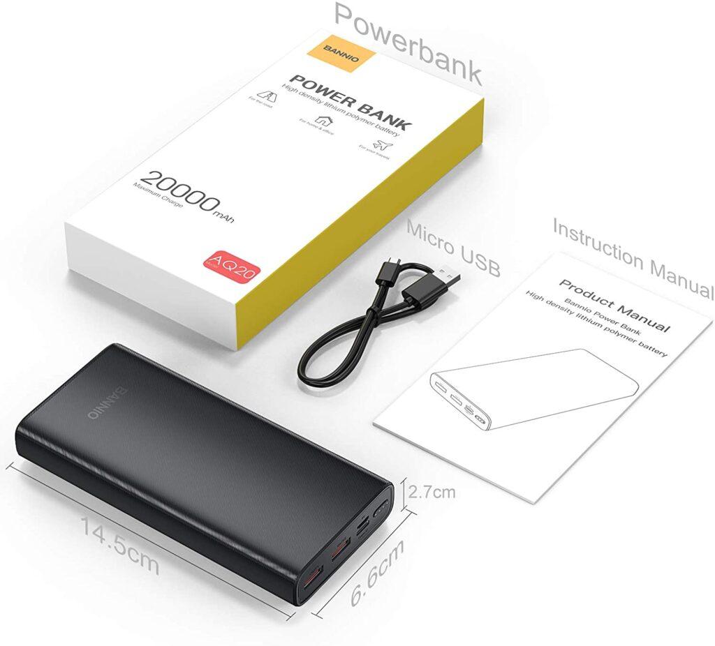 Batterie externe 20000mAh charge rapide accessoires