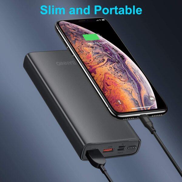 Batterie externe 20000mAh charge rapide fine et portable
