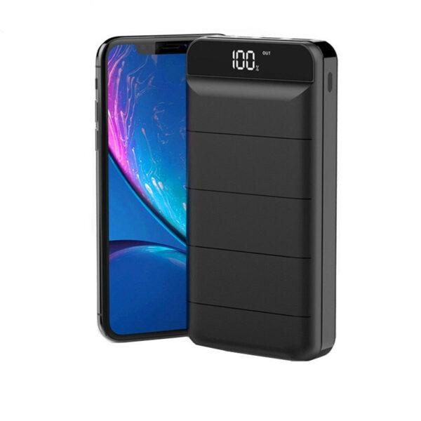 Batterie externe 40000mAh SunnyKevin à coté d'un smartpj