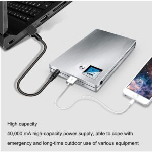 Batterie externe 40000mAh XINDONG charge deux appareils