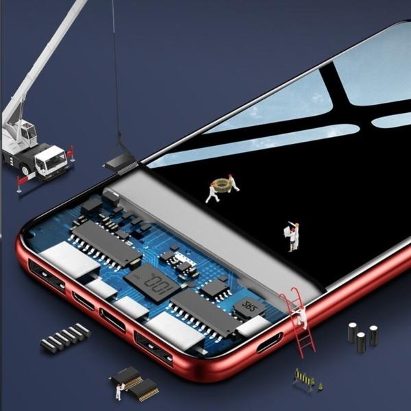 Batterie externe 40000mAh Yo Goel intérieru composants