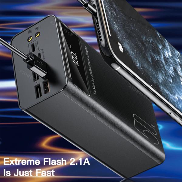Batterie externe 50000mAh Asometech ports USB