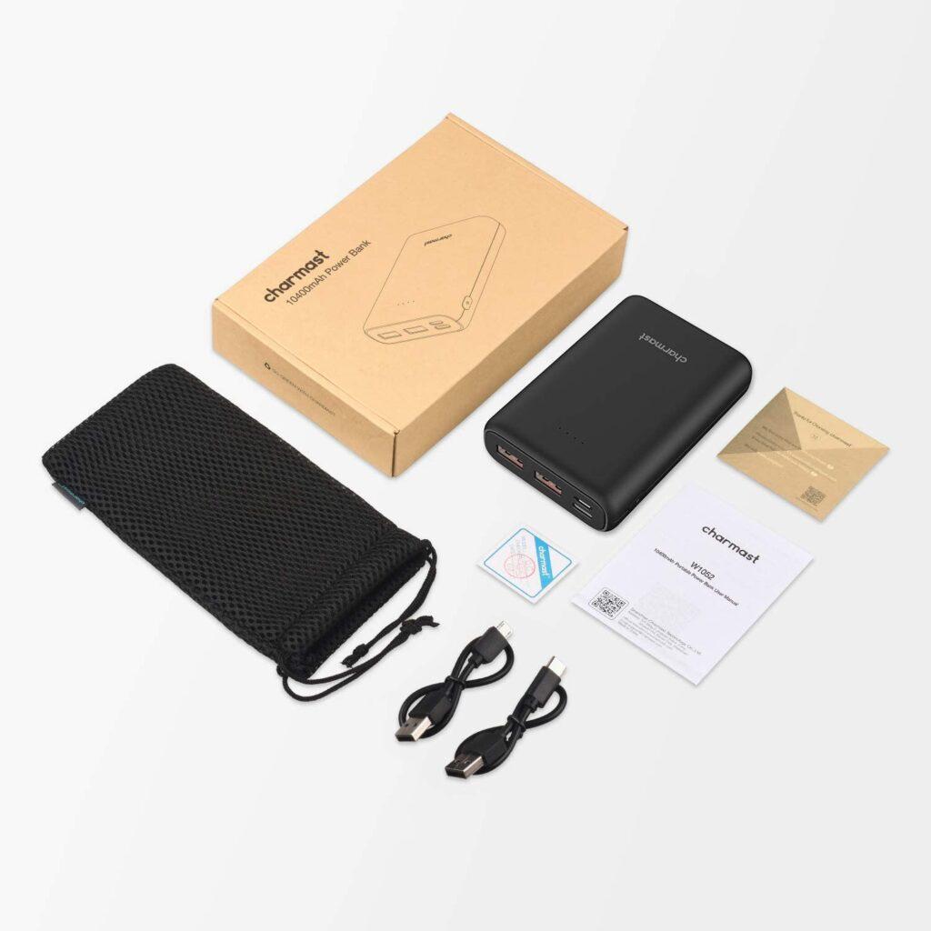 Batterie externe USB C 10000mAh accessoires