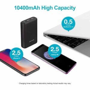 Batterie externe USB C 10000mAh grande capacité