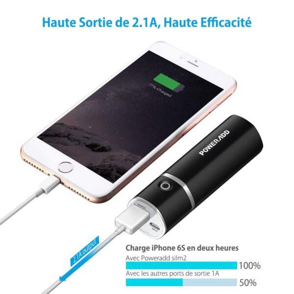 Batterie externe portable pas cher charge rapide