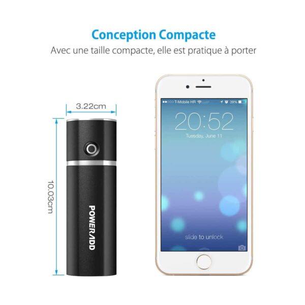 Batterie externe portable pas cher petite et transportable