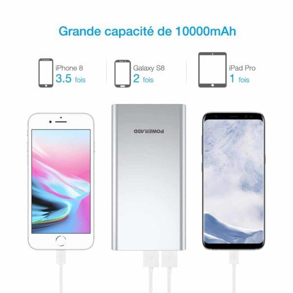 Batterie externe puissante pas cher grande capacité