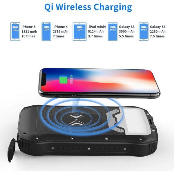 Batterie externe rechargeable solaire randonnée