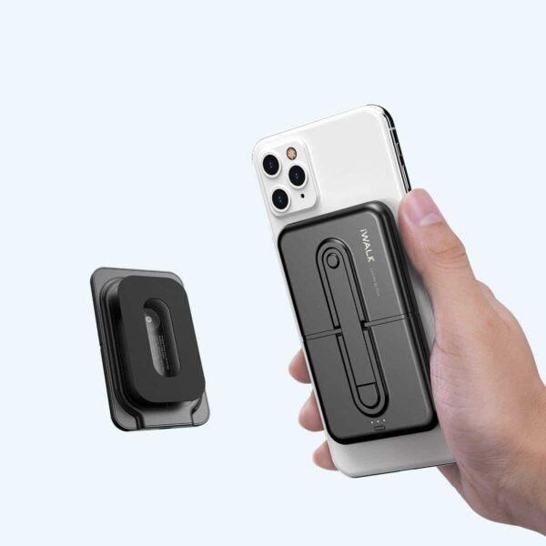 Batterie externe sans fil Mini devant et derriere