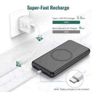 Batterie externe sans fil Samsung S9 charge super rapide de la batterie