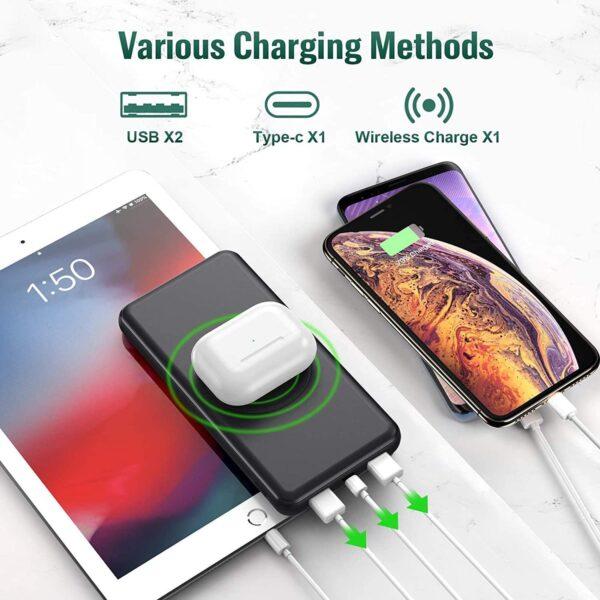 Batterie externe sans fil Samsung S9 mode de chargement varié