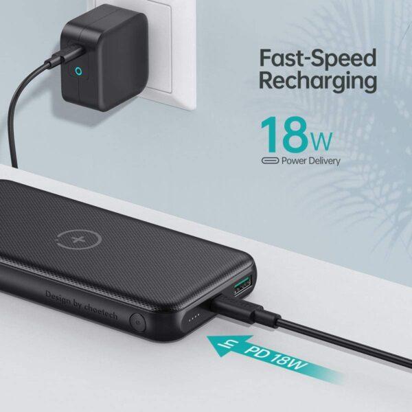 Batterie externe sans fil iPhone 11 charge rapide