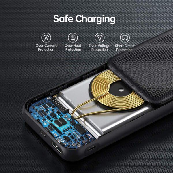 Batterie externe sans fil iPhone 11 charge sécurisée