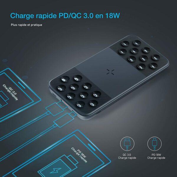Batterie externe sans fil iPhone 7 charge rapide
