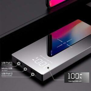 Batterie externe sans fil induction 20000mAh