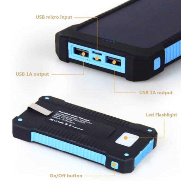 Batterie externe solaire 10000mAh inno tech