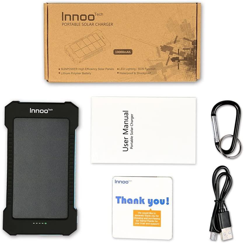 Batterie externe solaire 10000mAh inno tech accessoires