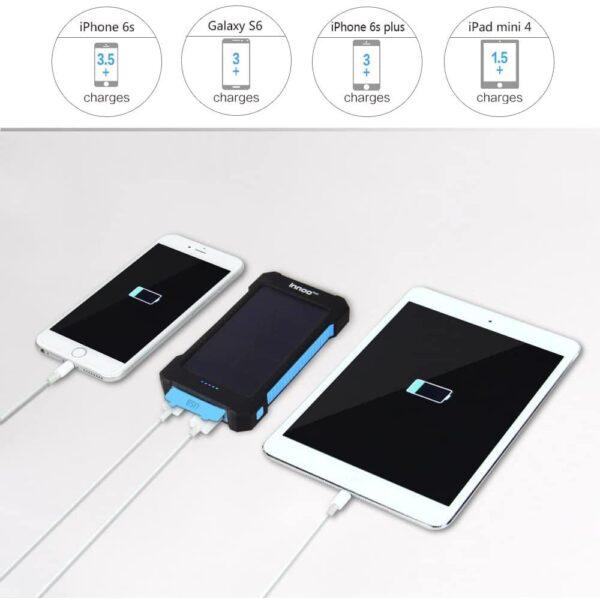 Batterie externe solaire 10000mAh inno tech grande capacité