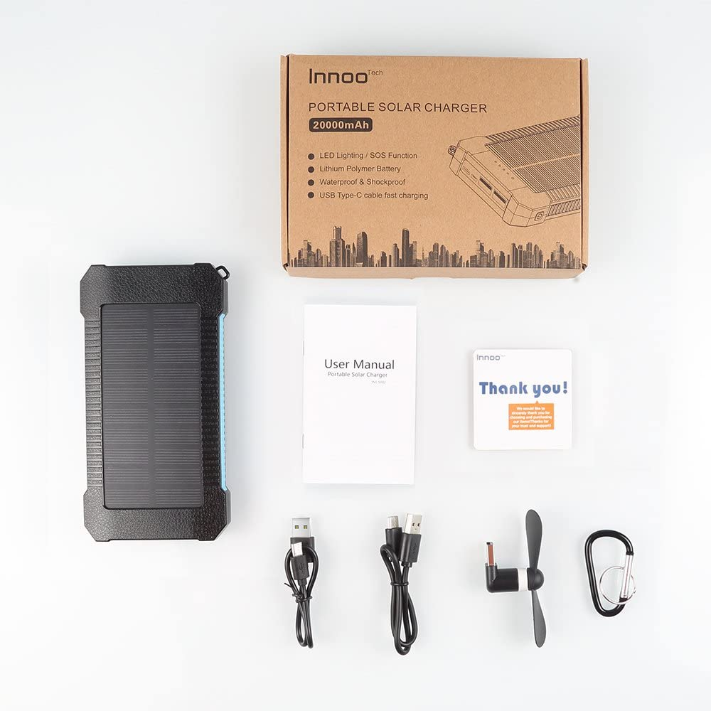 Batterie externe solaire 20000mAh Inno accessoires