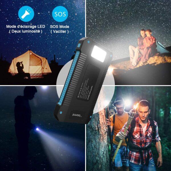 Batterie externe solaire 20000mAh Inno nuit lampe de torche