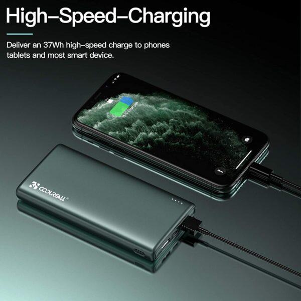 batterie externe 10000mAh charge rapide 2 ampères