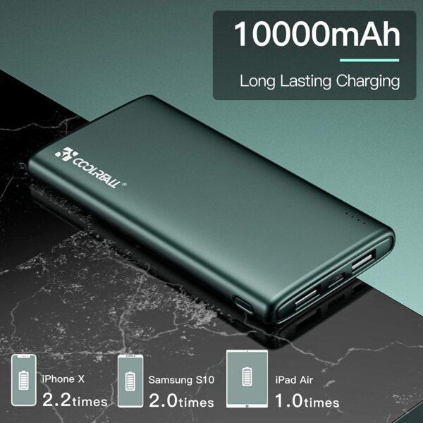 batterie externe 10000mAh charge rapide grande capacité