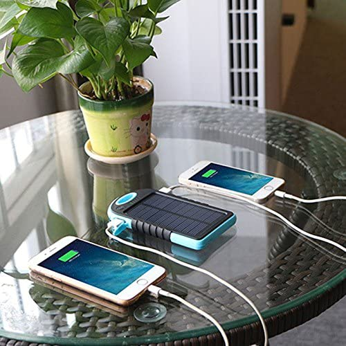 batterie externe solaire 5000mAh avec deux apple