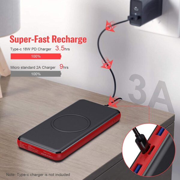 Batterie de secours sans fil Samsuing S10 charge rapide