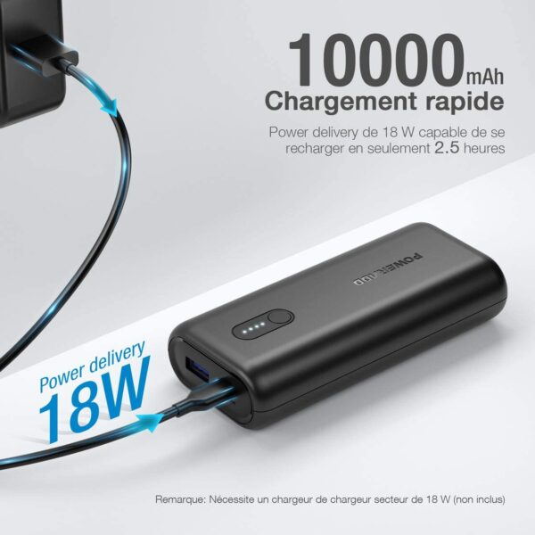 Batterie externe 10000mAh 18w charge rapide