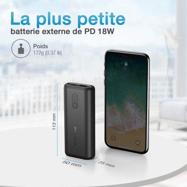 Batterie externe 10000mAh 18w la plus petite