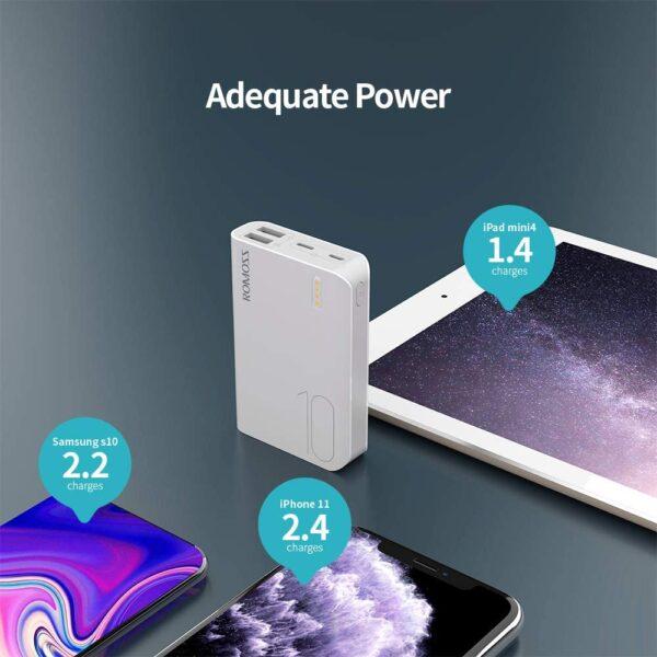 Batterie externe 10000mAh 2.1A grande capacité