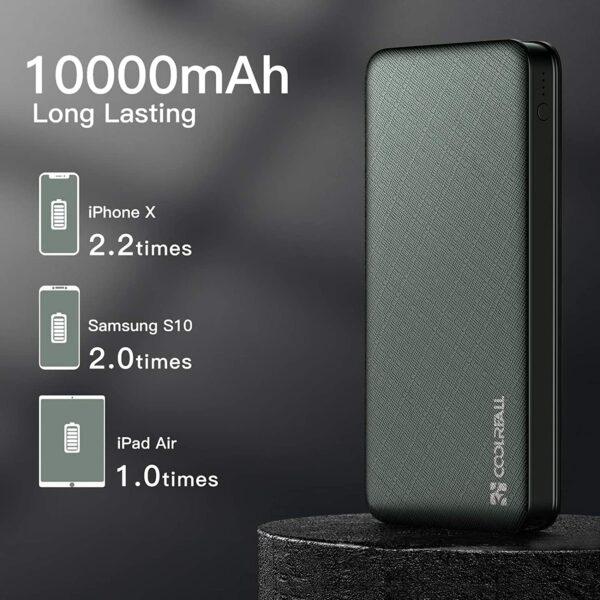 Batterie externe 10000mAh Coolreall capacité