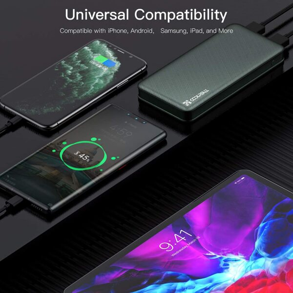 Batterie externe 10000mAh Coolreall compatibilité universelle