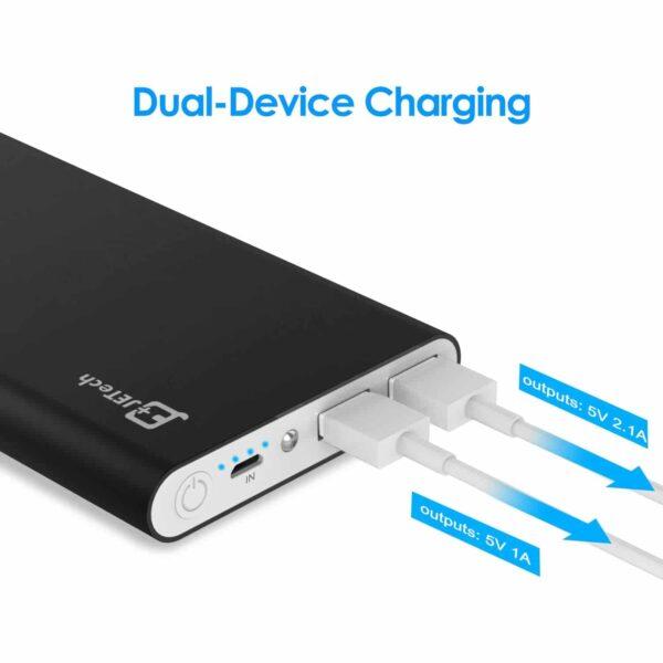 Batterie externe 10000mAh Jetech double charge