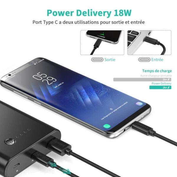 Batterie externe 10000mAh Mini Power Delivery