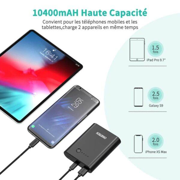 Batterie externe 10000mAh Mini haute capacité