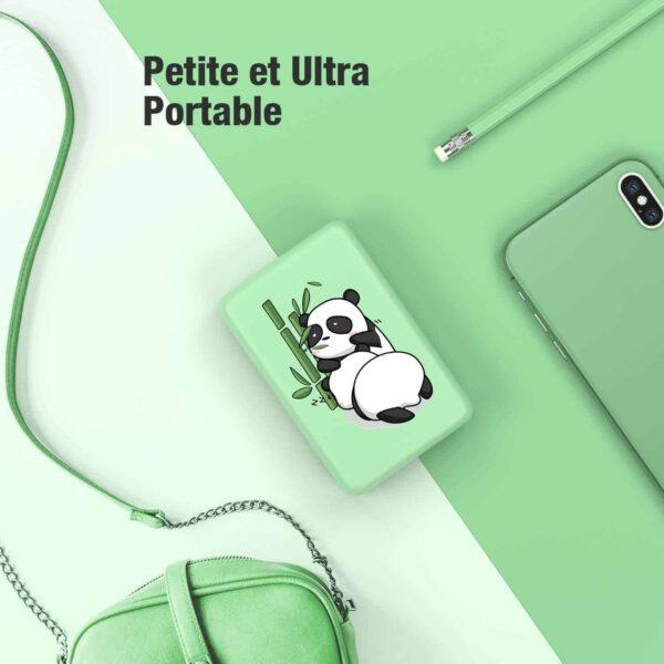 Batterie externe 10000mAh Panda petite ultra portable