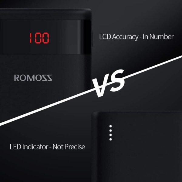 Batterie externe 10000mAh affichage digital en pourcentage precis